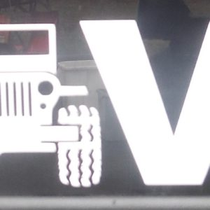 Close-up Jeep LOVE decal
